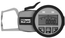 """Dyer Gage Short Reach Electronic Thickness Gage, 0-0.39""""/0-10mm, 653-504"""