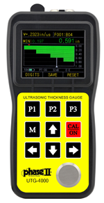 Phase II Ultrasonic Thickness Gauge with A & B Scan and Thru Coating Capability UTG-4000