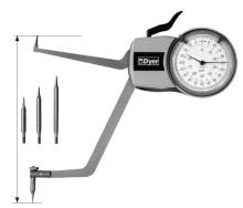 """Dyer Gage Comparative Reading O-Ring/Groove Gage, 2-4"""", 103-110"""